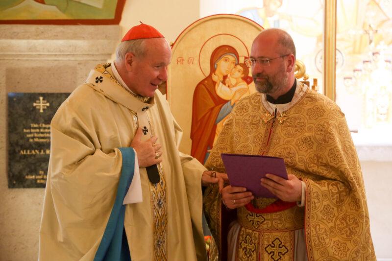 Отець Юрій Коласа із кардиналом Крістофом Шенборном